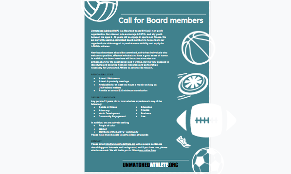 Call for Board members
