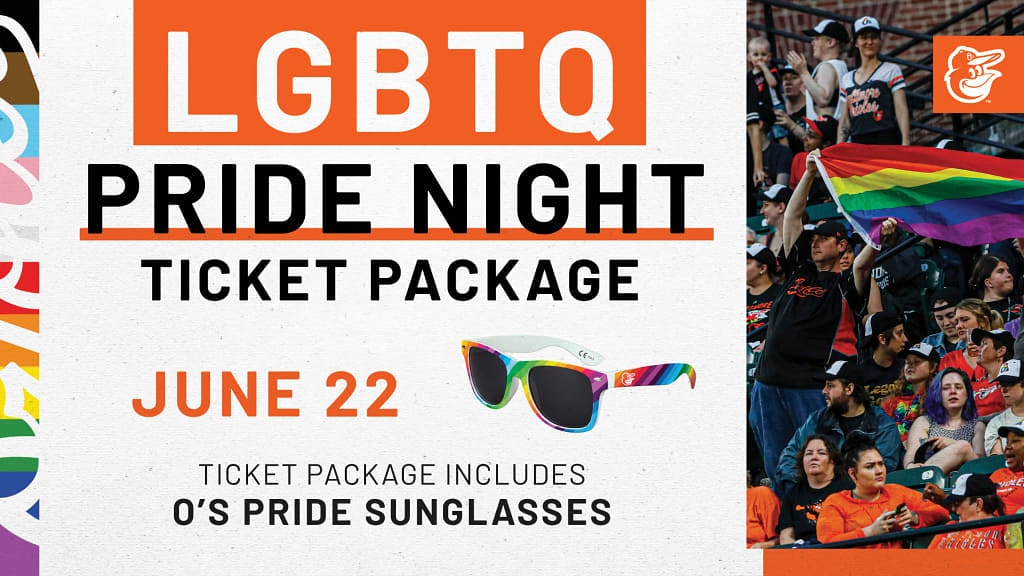 Unmatched throws the opening pitch at Orioles LGBTQ Pride Night!