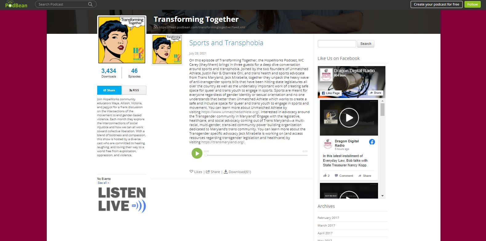 Sports and Transphobia – Transforming Together Podcast