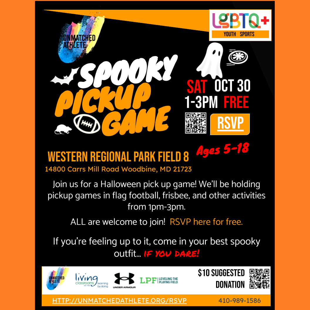 Spooky Pick Up Game on Oct 30